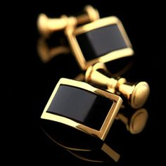 Black Onyx Centered Cufflinks. If you only needed one pair this would be it,wow.