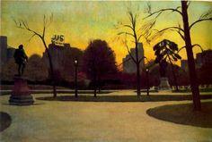 Shakespeare at Dusk (Central Park), Edward Hopper  1935