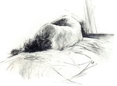 Jade Stone. Willow Charcoal Female Life by DavidHewittArtist#art #artist #drawing #charcoal #print #blackandwhite #lifedrawing #life #figure #female #nude
