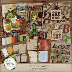 Amber Waves Collection by Aimee Harrison at Digital Scrapbooking Studio