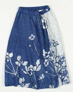 インディゴ二重織アネモネスカート