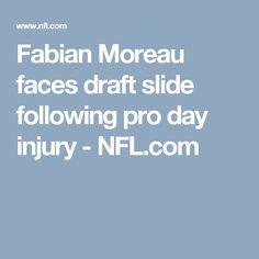 Fabian Moreau faces draft slide following pro day injury - NFL.com