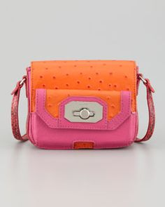 """I always love Pink and Orange together. This Rafe """"Monique"""" iPhone-Pocket Crossbody Bag does just that and is super cute! available @Neiman Marcus"""