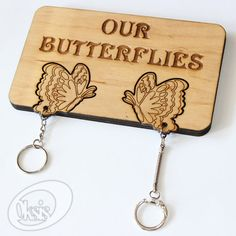 Wall Key Holder Wall Key Holder Our Butterflies Laser cut by Oksis