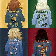 Deze past erbij, omdat de kinderen van Ron en Hermelien en van Harry en Ginny naar Zweinstein gaan. Dit zijn de afdelingen van de school.