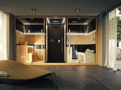 Sauna / turkish bath SASHA By Jacuzzi® design Alberto Apostoli Jacuzzi, Bathroom Spa, Bathroom Renos, Sauna Hammam, Sauna Shower, Spa Rooms, Spa Design, Bath Design, Bedrooms