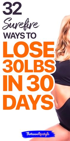 Want to lose 30 pounds in 30 days? Check out this list of the best weight loss tips for women to lose extra pounds fast. #howtoloseweight #loseweighttips #weightlosstips Lose Weight In A Month, Lose Weight At Home, Losing Weight Tips, Ways To Lose Weight, Weight Loss Tips, Weight Loss Drinks, Weight Loss Smoothies, Fast Weight Loss, Healthy Weight Loss
