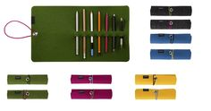 Papelote Wool Felt Roll-Up Pencil Case