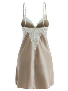 Careful Combinaison Nuisette Fond De Robe Nylon Vintage 38 40 Verte Wide Varieties Women's Clothing Intimates & Sleep