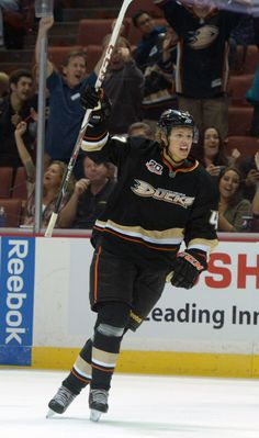 CrowdCam Hot Shot: Anaheim Ducks defenseman Hampus Lindholm celebrates after a goal in the second period against the Phoenix Coyotes at Honda Center. Photo by Kirby Lee