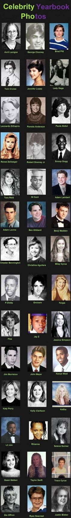 Celebrity Yearbook Photos-that is NOT lil jon!! as for bieber, who knows! the rest- legit