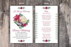 Excited to share the latest addition to my #etsy shop: Funeral Prayer Card Template | Editable MS Word & Photoshop Template | Instant Download http://etsy.me/2CC7EIl #art #drawing #funeralmemorial #memoralprogram #funeralkeepsakes #mswordtemplate #photoshoptemplate #po