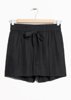 & Other Stories image 1 of Tie-Waist Shorts in Black