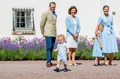Prince Daniel of Sweden Prince Oscar of Sweden Queen Silvia of Sweden Crown Princess Victoria of Sweden Princess Estelle of Sweden is seen meeting...