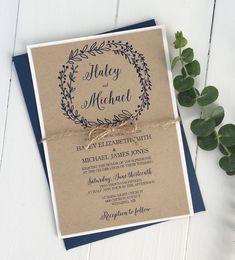 Kraft Wedding Invitations, Rustic Invitations, Wedding Invitation Wording, Wedding Stationery, Invitation Suite, Event Invitations, Handmade Invitations, Anniversary Invitations, Wedding Anniversary