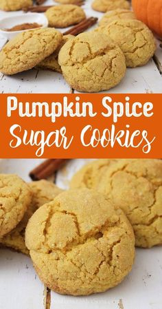 Easy Pumpkin Spice Sugar Cookies Easy Pumpkin Spice Sugar Cookies Combine pumpkin spice and sugar cookie dough for the perfect fall treat! Pumpkin Spice Sugar Cookies are an easy cookie recipe with perfect soft and chewy cookies as a result! Chewy Sugar Cookie Recipe, Pumpkin Sugar Cookies, Pumpkin Cookie Recipe, Homemade Pumpkin Pie, Sugar Cookie Dough, Pumpkin Chocolate Chips, Easy Cookie Recipes, Pumpkin Recipes, Baking Recipes