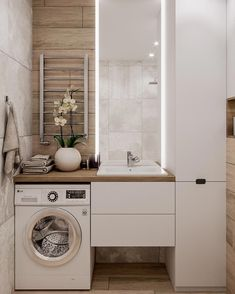 Great Bathroom Decor And Design - Top Style Decor Laundry Room Design, Bathroom Design Small, Bathroom Layout, Bathroom Interior Design, Interior Design Living Room, Bath Design, Bathroom Designs, Narrow Bathroom, Laundry In Bathroom