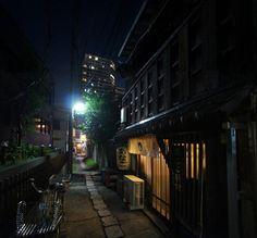 夜散歩のススメ「荒木町の路地」東京都新宿区荒木町