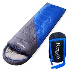 Pecosso Ultralight Sleeping Bag  Outdoor Warming Compression Sack  Comfort Lightweight Waterproof 34 Season Packable Bag for Camping Travel Backpacking Hiking Fit KidMenWomen Blue -- Find out more about the great product at the image link.-It is an affiliate link to Amazon.