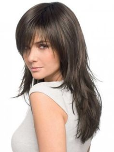 Long Textured Layered Front Lace Human Hair Wig