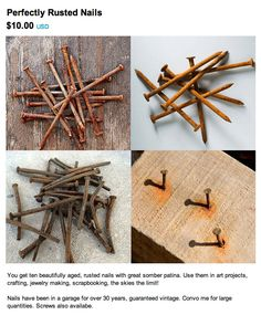Anyone need some perfectly rusted nails? #regretsy #etsy #funny