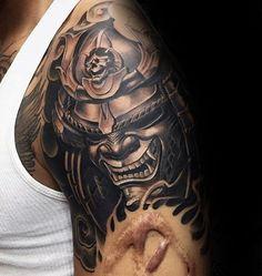 Tattoo Trends – 100 Japanese Samurai Mask Tattoo Designs For Men Japanese Mask Tattoo, Japanese Tattoo Designs, Japanese Sleeve Tattoos, Best Sleeve Tattoos, Best Tattoo Designs, Hannya Mask Tatuaje, Hannya Maske Tattoo, Oni Mask Tattoo, Demon Tattoo