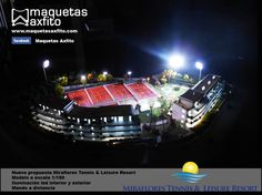 scale model 1:150 Proyect Miraflores Tennis & Leisure Resort