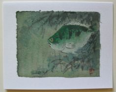 $4.99  Hand Made Asian Fish Fine ART Blank Card BY DAO YAN HU | eBay  #holiday #stationary #greetingcard
