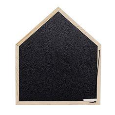 Bloomingville Krijtbord MDF 35 x 30 cm - Zwart/Naturel - afbeelding 1