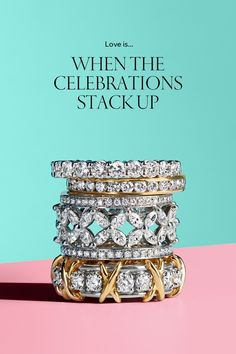 Tiffany Celebration® rings are a dazzling way to mark every moment.