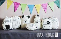 BABACCI cuscini per la stanza dei bambini di Isabo' borse in stoffa