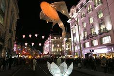 Lumiere festival in Oxford Streets