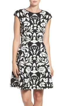 Vince Camuto 'Blister' Knit Fit & Flare Dress available at #Nordstrom