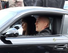 Bruce Willis And Catherine Zeta-Jones On The Set Of RED 2