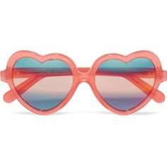 Cutler and Gross Heart-frame acetate mirrored sunglasses (5.718.720 IDR) ❤ liked on Polyvore featuring accessories, eyewear, sunglasses, glasses, hearts, coral, heart shaped sunglasses, gradient glasses, acetate sunglasses and mirrored heart sunglasses