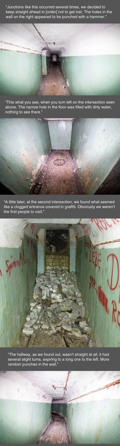 A Weird underground Military Building in Germany.  Hidden in the woods.