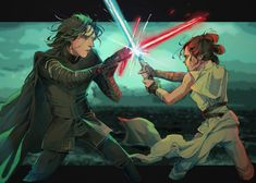 Heriumu-draws: The only way you'll get to Exegol is with me. Reylo Tumblr, Rey And Finn, Finn Poe, Hades And Persephone, Star War 3, The Force Is Strong, Love Stars, Disney Family, Film Serie