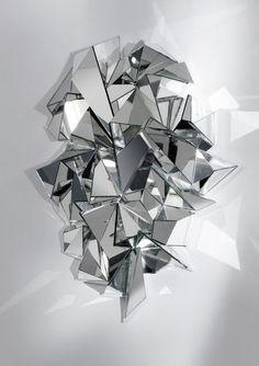 Froisse Mirror, 2008, by Mathias Kiss