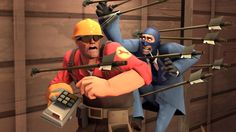 Team Fortress 2 spy y engineer Team Fortress 2, Valve Games, All Jokes, Red Team, How To Make Animations, Stuff And Thangs, Meet The Team, Spirit Animal, Games To Play