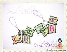 Mil Delicias: ♥ Más iniciales para los bolsos