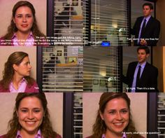 Oh, I forgot that the Office used to be this good. I love this moment.