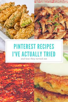 Pinterest Recipes I've Actually Tried and How They Turned Out | NESHEAHOLIC