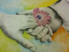 chalk pastel art piece  -Maria Almaraz