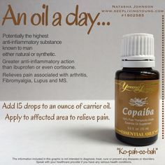 Copaiba Essential Oil, Essential Oil Uses, Copaiba Oil, Healing Oils, Aromatherapy Oils, Yl Oils, Young Living Oils, Young Living Essential Oils, Just In Case