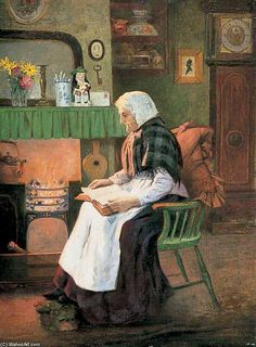 """""""The Twilight Of Life"""" by Charles Spencelayh (1865-1958, United Kingdom)"""