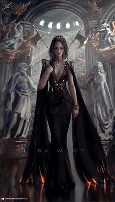 Fantasy Art Women, Beautiful Fantasy Art, Dark Fantasy Art, Fantasy Girl, Fantasy Artwork, Fantasy Queen, Fantasy Princess, Fantasy Character Design, Character Inspiration
