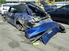 hard rear hit 2015 Ford Mustang conv.