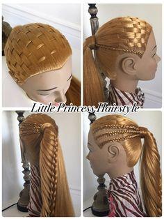 Peinado Facil para  niña/peinado con trenza/peinado facil y bonito