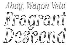 Rumpus Room by Sideshow #fonts #fontshop