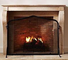 Laramer Fireplace Single Screen #potterybarn